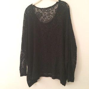 Black lace tunic M
